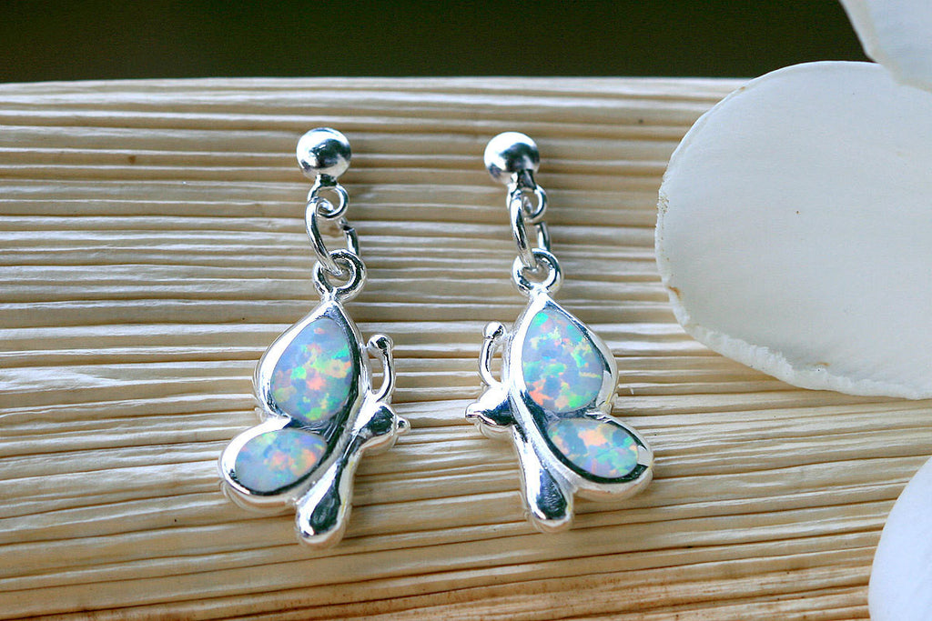 Honeybee,White Opal Earrings,Geode Earrings,Gemstone Earring,Agate Earring,October Birthstone,Stone earring,Honeybee,Earrings,silver,stone