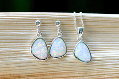 Opal Earrings,Geode Earrings,Gemstone Earring,Agate Earring,Opal Necklace,October Birthstone,Stone earring,earrings,necklace,stone,silver