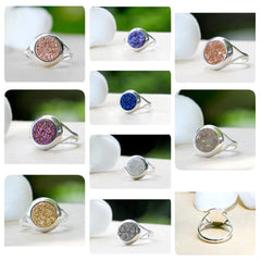Druzy ring,Geode ring,Gemstone ring,Quartz Ring,Drusy Ring,Agate Ring,drusy ring,stacking ring,agate ring,silver,jewelry,unique,druzy