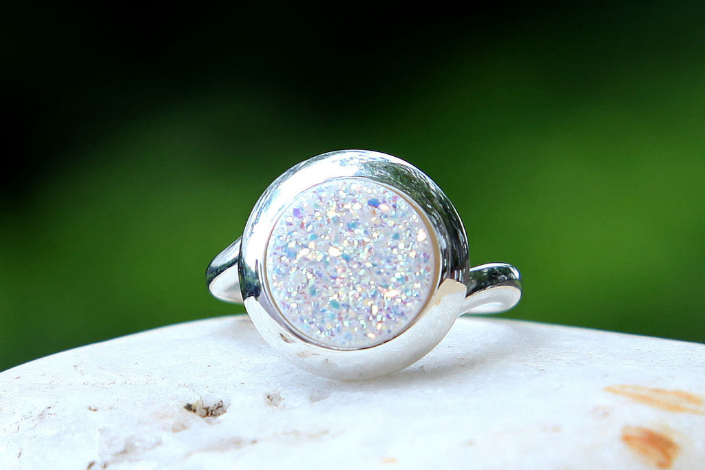 Quartz Ring,Druzy ring,Geode ring,Gemstone ring,Drusy Ring,Agate Ring,stone ring,stacking ring