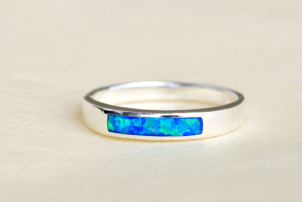 Blue Opal Ring,Geode ring,October Birthstone,Birthstone Ring,gemstone ring,Agate ring,Unisex Ring,Gift idea,Summer gifts,Trending,Graduation