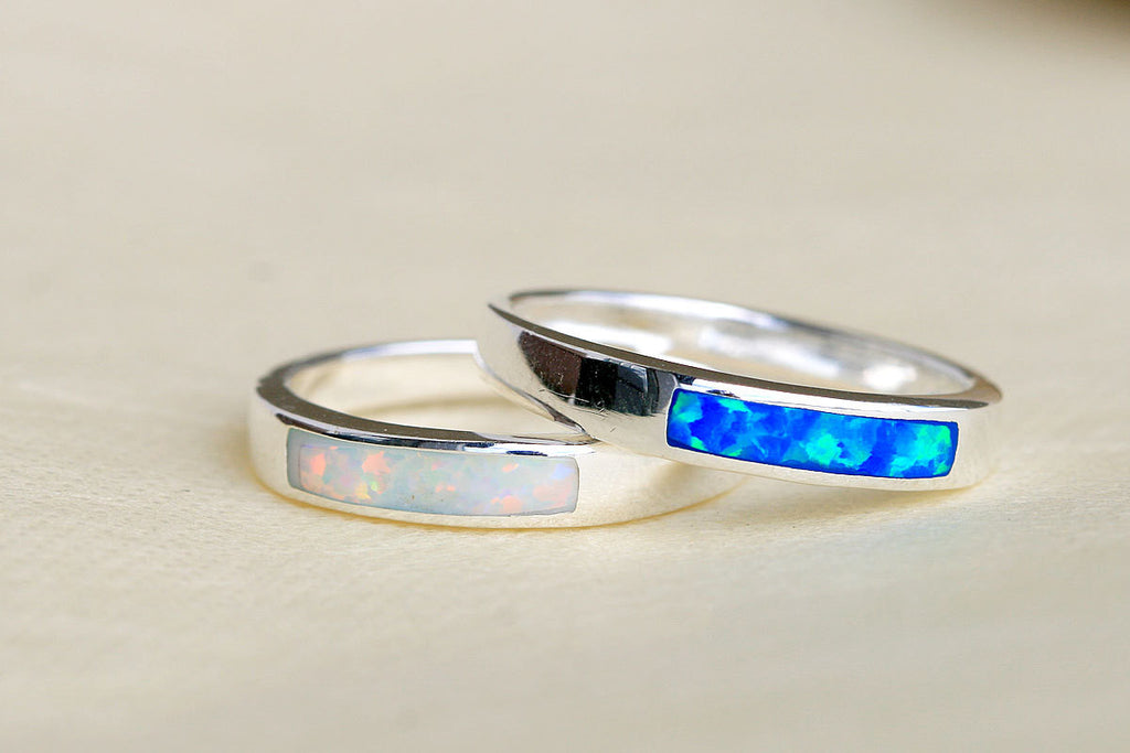 62fc63805f7a0 White Opal Ring,Geode ring,October Birthstone,Birthstone Ring ...