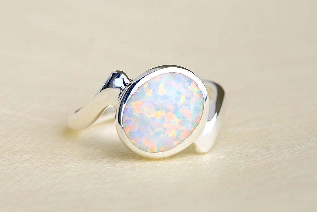 Opal Ring,Geode ring,October Birthstone,Birthstone Ring,gemstone ring,Agate ring,Fathers day,Gift idea,Summer,Trending,Unisex