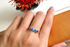 Stacking,Opal Ring,Geode ring,October Birthstone,Birthstone Ring,gemstone ring,Agate ring,Fathers day,Gift idea,Summer,Trending,Unisex