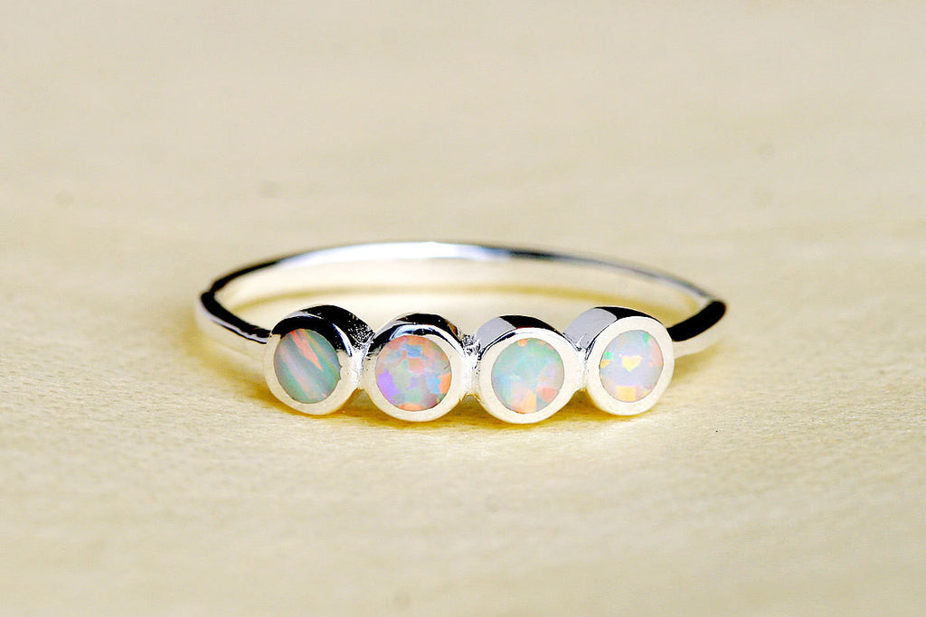 Stacking,Opal Ring,Geode ring,October Birthstone,Birthstone Ring,gemstone ring,Agate ring,Mothersday,Stone ring,stone,opal,xmas,silver,ring