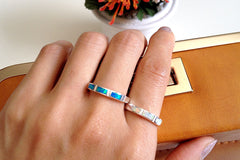 Couple,Opal Ring,Geode ring,October Birthstone,Birthstone Ring,gemstone ring,Agate ring,Fathers day,Gift idea,Summer,Trending,Unisex