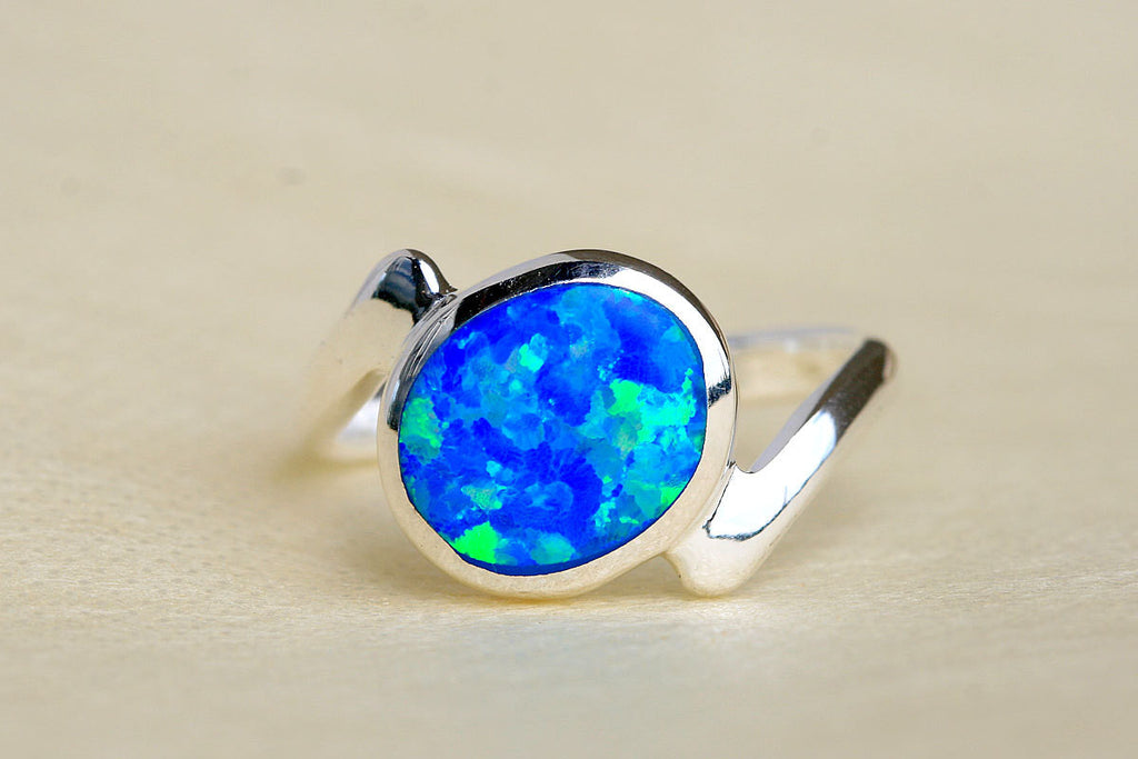 0050_OPRB,Opal Ring,October Birthstone Ring,Silver Ring