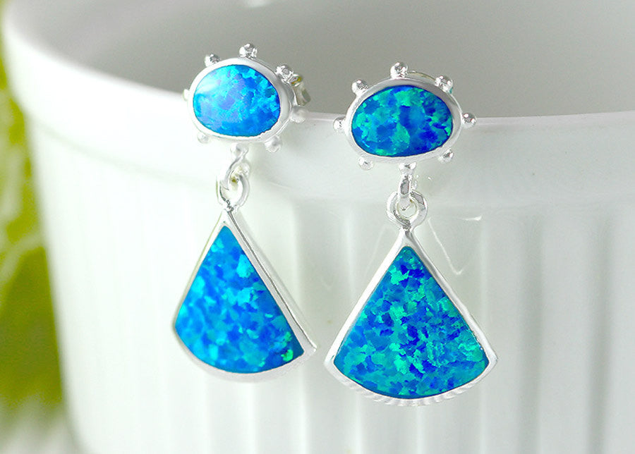 Blue,Opal Earrings,Geode Earrings,Gemstone Earring,Agate Earring,October Birthstone,Stone earring,Delicate,opal,earrings,stone,dainty,chic