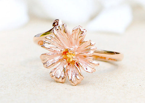Sapphire Ring,Rose gold ring,Stone Ring,Agate ring,Gemstone Ring,Rose gold,delicate,dainty,Flower,Gifts,silver,jewelry,sapphire,stone,agate