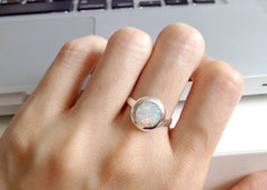 Opal Ring,Geode ring,gemstone ring,Agate ring,Gemstone Ring,Opal,Jewelry,Silver,Stone