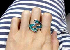 Opal Ring,Geode ring,October Birthstone,gemstone ring,Agate ring,delicate ring