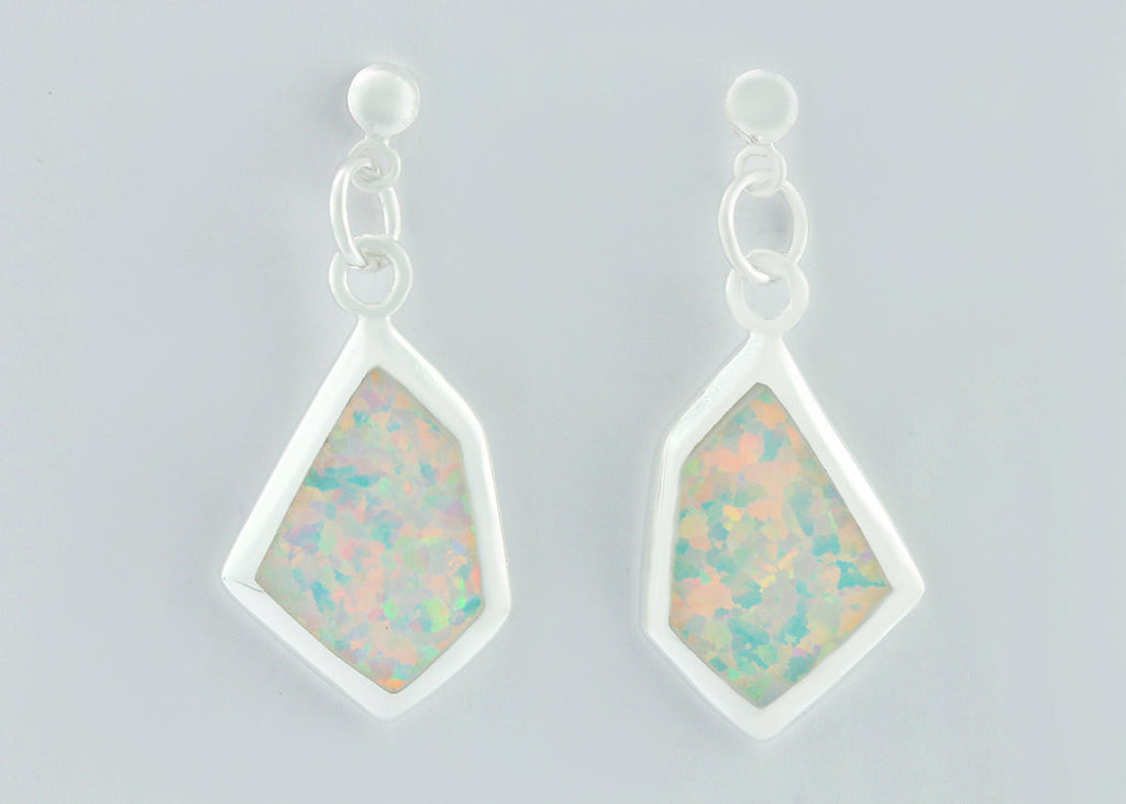 Opal Earrings,Geode Earrings,Gemstone Earring,Agate Earring,October Birthstone,Stone earring,Delicate,opal,earrings,stone,dainty,silver