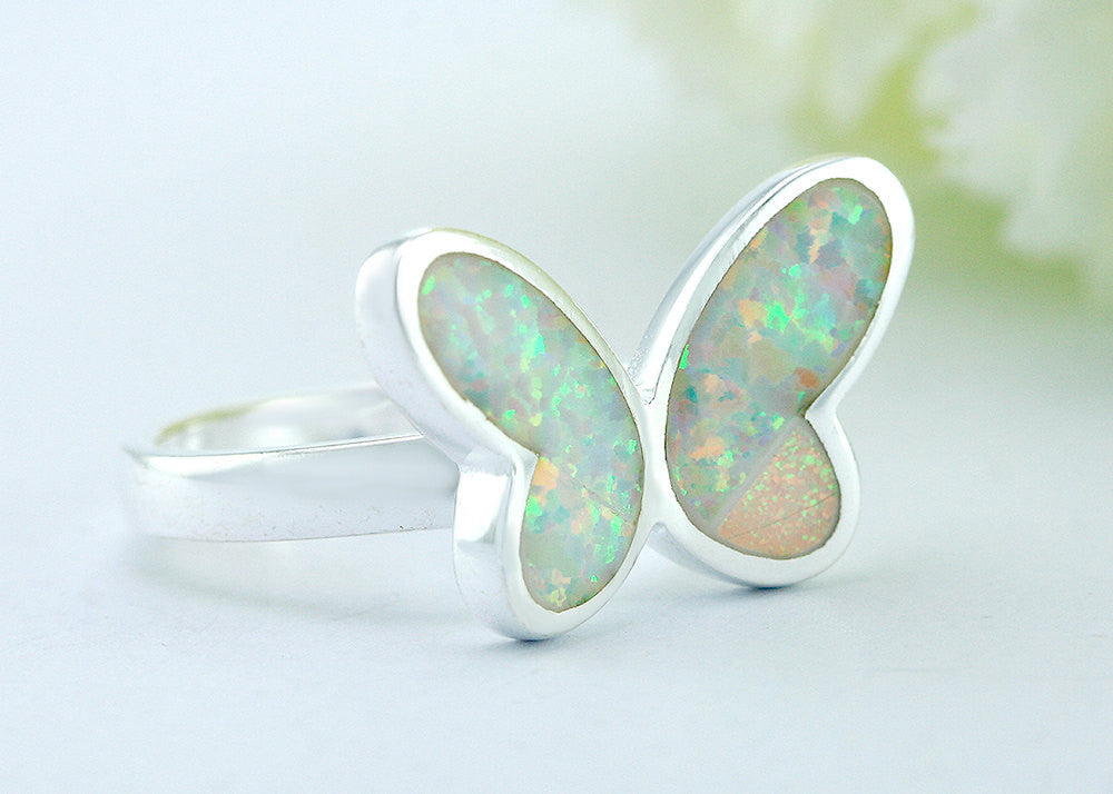 Opal Ring,Geode ring,October,Birthstone,gemstone ring,Agate ring,delicate ring,stone,gedoe,agate,silver,opal,dainty,butterfly