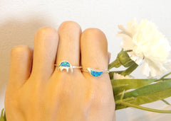 Opal Ring,Geode ring,October,Birthstone,gemstone ring,Agate ring,delicate ring,stone,gedoe,agate,silver,opal,dainty,animal,lucky