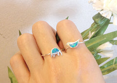 Bird,Opal Ring,Geode ring,October,Birthstone,gemstone ring,Agate ring,delicate ring,stone,agate,silver,opal,dainty,animal,lucky,freedom