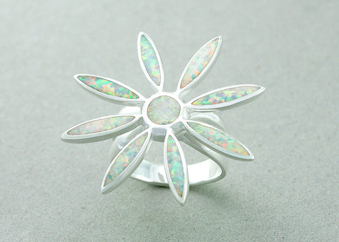 0144_OPRW,Flowers,Opal Ring,Geode ring,gemstone ring,Agate ring,Gemstone Ring,Opal,Jewelry,Silver,Opal,Trending,Gift idea,Birthstone ring,October
