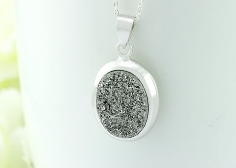 Silver,Druzy Necklace,Agate Necklace,Geode Necklace,Gemstone Necklace,Quartz necklace,Stone,Quartz,Quartz necklace,Pendant