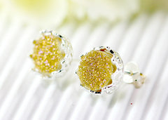 Stone earrings,Druzy Earrings,Crown,Stud Earrings,Geode,Gemstone earrings,bridesmaid gift,Quartz Earrings,Quartz Stud,Birthday gifts,silver