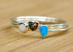 Opal Bangle,Stone Bangle,Teardrop Bracelets,Birthstone Bangle,Opal Bracelets,Stacking bangle,Gemstone bangle,Gemstone Brecelets