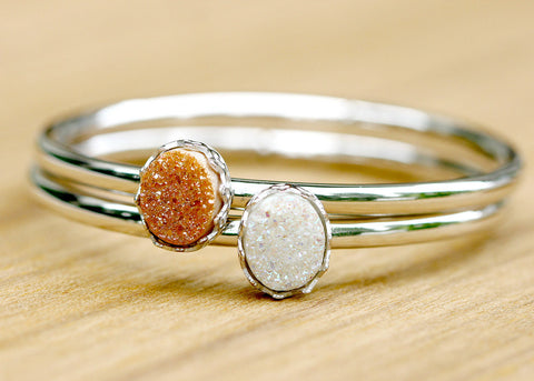 Druzy Bangle,Stone Bangle,Druzy Bracelets,Quartz g25,Bangle,Quartz Bracelets,Stacking bangle,Gemstone bangle,Gemstone Brecelets