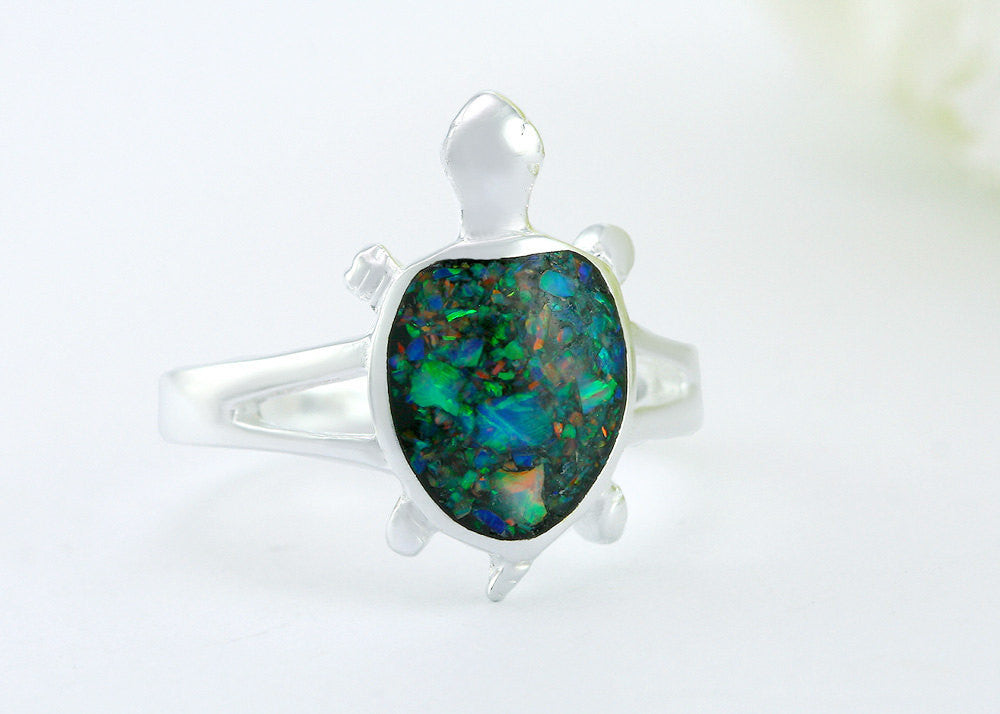 Turtle Ring,Stone Ring,Opal Ring,Geode ring,October Birthstone,Birthstone Ring,gemstone ring,Agate ring,delicate ring,stone,gedoe,Lucky