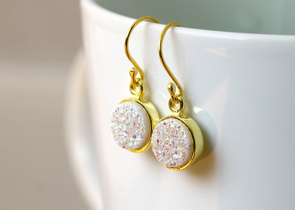 Gold Jewelry,Druzy Earring,Gold Earrings,Geode Earring,Quartz earrings,Agate earrings,Silver earrings,Stone earrings,jewelry,Silver