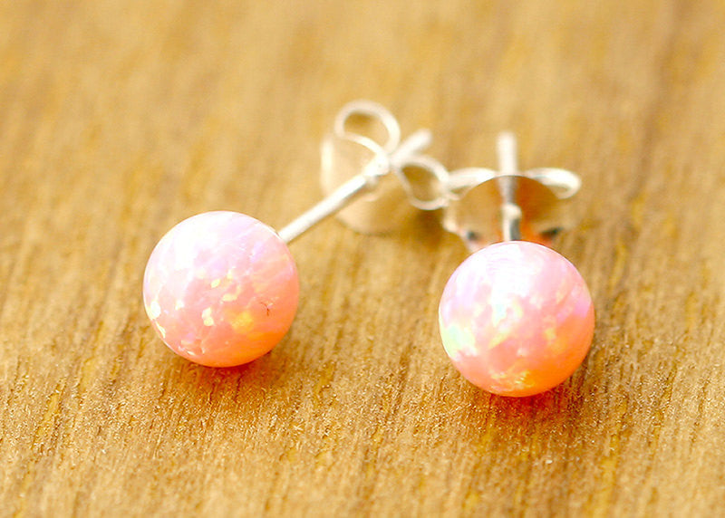 Opal Earrings,Opal Stud,stud earrings,Stone Stud,Tiny Earrings,October birthstone,Trending,Birthday gifts,mom gifts
