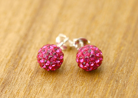 Bridesmaid earrings,Crystal Earrings,Crystal Stud,stud earrings,Swarovski Stud,Diamond Earrings,Diamond Stud,Bridal earrings,Pink earrings