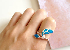 Stone ring,Opal Ring,Geode ring,October Birthstone,Birthstone Ring,gemstone ring,Agate ring,Mother Ring