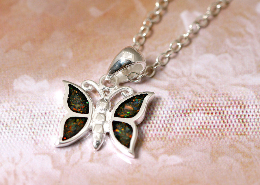 Butterfly,Opal Necklace,Silver Pendant,Gemstone Necklace,Agate Necklace,Stone Necklace,opal,stone,agate,gemstone,stud,earring,silver