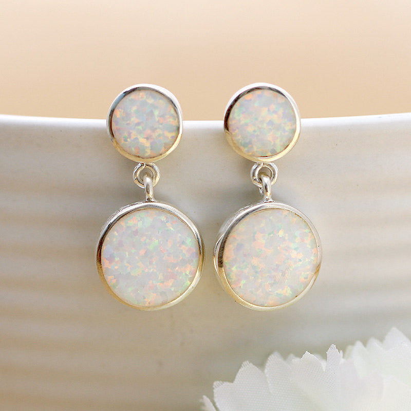 Opal Earrings,Geode Earrings,Gemstone Earrings,Agate Earrings,October Birthstone,Stone earrings,Mom Jewelry,Bridesmaids earring