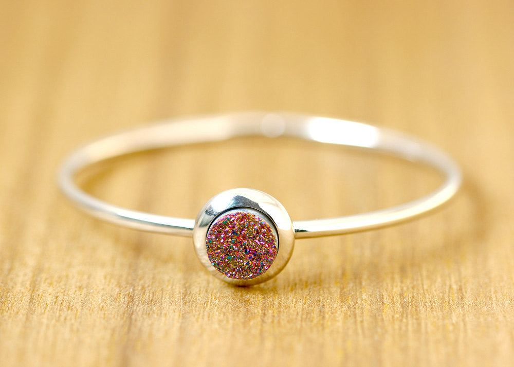 Druzy Bangle,Stone Bangle,Quartz Bracelets, Bangle,Opal Bracelets,Stacking bangle,Gemstone bangle,Gemstone,Sparkle