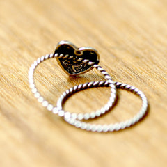 Oxidized Heart ring,Stacking ring,Simple ring,Modern ring,925 sterling silver,silver ring
