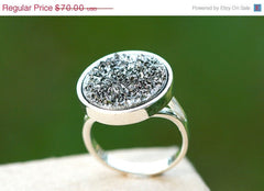 40% Off Geode Ring,Statement Ring,Agate Ring,Druzy Ring,Drusy Ring,925 silver