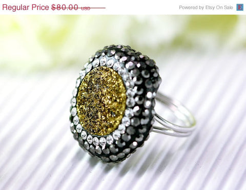 40% Off Geode Ring,Druzy Ring,Drusy Ring,Quartz,Agate Ring,Statement ring,Quartz ring,Gemstone Ring,Stone Ring,gold ring,adjustabl