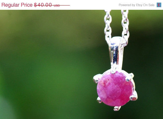 40% Off Ruby Necklace,Gemstone Necklace,July's Birthstone,925 Sterling Silver Necklace,Birthstone Necklace,July finds,agate necklace,July Bi
