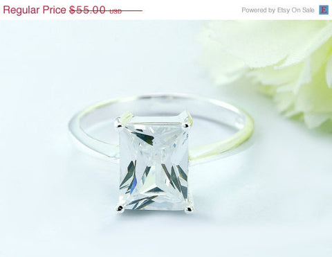40% Off Cz Ring,cubic zirconia,Silver Ring,Statement ring,Colorful ring,Crystal Ring,Xmas,Christmas Ring,Blackfriday,cyber mo