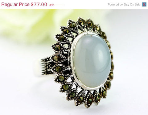 40% Off Vintage,Vintage ring,Moonstone agate Ring,Geode Ring,Statement Ring,Agate Ring,Stone Ring,Gemstone Ring,birthstone ring,Moonstone