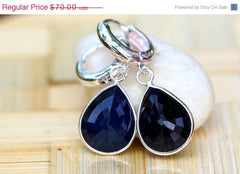 40% Off Blue ,Sapphire earrings,Sapphire stud Earrings,Geode earrings,Gemstone earrings,Stud Earrings,Sterling Silver