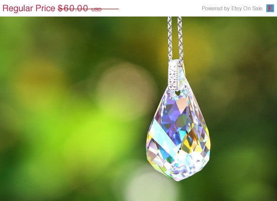 40% Off Crystal Necklace,Swarovski Necklace,Statement Necklace,Gemstone Necklace,Swarovski Pendant,rhinestone necklace,swarovski crystal