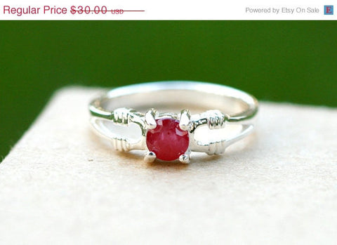 40% Off Red Ruby Ring,Geode Ring,Statement Ring,Agate Ring,Stone Ring,Gemstone Ring,925 Sterling Silver