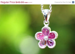 40% Off Ruby Necklace,Gemstone Necklace,July's Birthstone,925 Sterling Silver Necklace