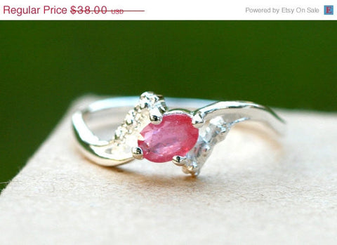 40% Off Pink,Tourmaline Ring,Geode Ring,Statement Ring,Agate Ring,Stone Ring,Gemstone Ring,925 Sterling Silver,ring,tourmaline,geode,stone r