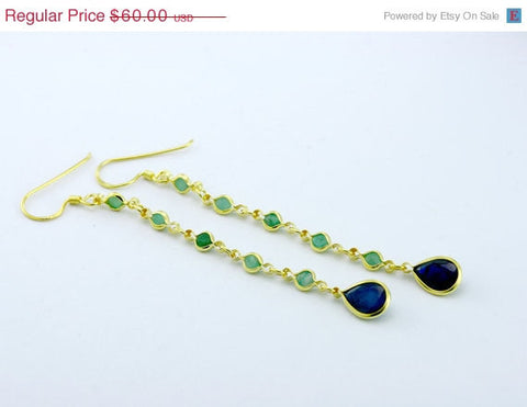 40% Off Sapphire,Stone Earring,Gold Earrings,Geode Earring,Emerald earrings,Agate earrings,drop earrings,Gold,Ruby,gemstone,xmas,christmas,