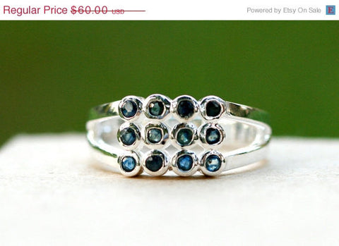 40% Off Blue Sapphire Ring,Geode Ring,Statement Ring,Agate Ring,Stone Ring,Gemstone Ring,925 Sterling Silver