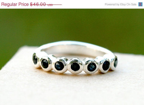 40% Off Blue Sapphire Ring,Geode Ring,Statement Ring,Agate Ring,Stone Ring,Gemstone Ring,Sapphire,Birthstone,Stacking ring,Silver,Jewelry,Gi