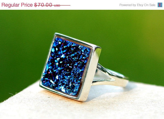 40% Off Statement Ring,Geode Ring,Druzy Ring,Drusy Ring,Drusy Quartz,Agate Ring,Goede,Quartz,stone,Sparkle,Cocktail,Raw crystal,Druzy,drusy,