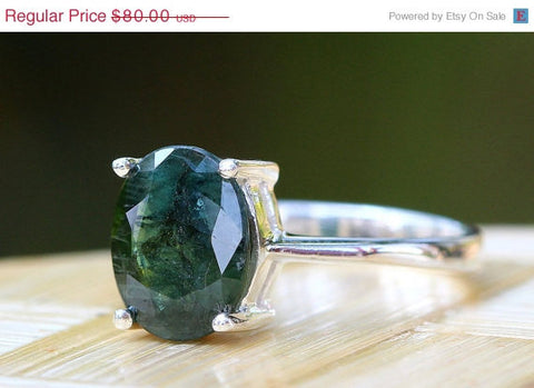 40% Off Green Sapphire Ring,Geode Ring,Statement Ring,Agate Ring,Stone Ring,Gemstone Ring,925 Sterling Silver