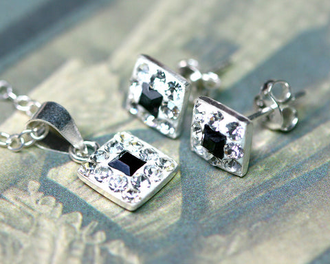 Date night Jewelry,Bridesmaid earrings,Wedding earrings,Wedding jewelry,Square crystal rhinestone sterling,silver stud,Swarovski Earrings,Silver