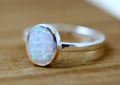 White Ring,Unisex Ring,Geode ring,October Birthstone,Opal Ring,gemstone ring,Agate ring,Fathersday,Stone ring,stone,opal,xmas,silver